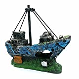 photo: buy LIAMTU Aquarium Fish Tank Decoration Boat Resin Plastic Plant Decor Perfect for 10 Gallon Miniature Tank online, best price $9.99 new 2020-2019 bestseller, review