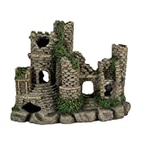 photo: buy Hygger Aquarium Ornaments Fish Tank Decorations Castle Cave Resin Roman Column, Non-Toxic Durable Resin Material, Safe for Fish online, best price $39.99 new 2020-2019 bestseller, review