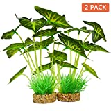 photo: buy Aquarium Plants Decoration,Artificial Plants for Fish Tank,10 Inches/25cm High,2 Pack online, best price $22.99 new 2020-2019 bestseller, review