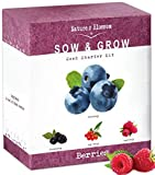 photo: buy Nature's Blossom Fruit Growing Kit. The Beginner's Set to Grow 4 Types of Berries from Seed - Raspberries ; Blueberries ; Goji Berry ; Blackberries. Contains Planting Pots, Soil & Gardening Guide online, best price $25.99 new 2019-2018 bestseller, review