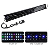 photo: buy Yescom Multi-Color 156 LED Aquarium Light Full Spectrum Lamp Extendable Brackets for 45-50