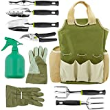 photo: buy Vremi 9 Piece Garden Tools Set - Gardening Tools with Garden Gloves and Garden Tote - Gardening Gifts Tool Set with Garden Trowel Pruners and More - Vegetable Herb Garden Hand Tools with Storage Tote online, best price $39.99 new 2019-2018 bestseller, review