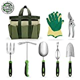 photo: buy Garden Tools Set Gardening Kits Stainless Steel Heavy Duty Gifts for Men Women Including Gloves Tote and Pruning shears online, best price $79.99 new 2019-2018 bestseller, review