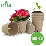 photo: buy IGGRO Peat Pots Set 100 pcs Bio-Degradable 3