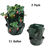 photo: buy Luony 2 Pack 11 Gallon Strawberry Planter Bag Growing Bag with 8 Pocket Planter Grow Bag online, best price $26.99 new 2017-2016 bestseller, review