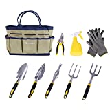 photo: buy SONGMICS 9 Piece Garden Tool Set Includes Garden Tote and 6 Hand Tools Heavy Duty Cast-aluminum Heads Ergonomic Handles UGGB31L online, best price $32.39 new 2018-2017 bestseller, review
