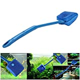 photo: buy Petacc Double-sided Fish Tank Cleaner Sponge Cleaning Brush Portable Scraper Practical Scrubber with Non-slip Handle, Suitable for Cleaning Fish Tank (Blue) online, best price $9.99 new 2020-2019 bestseller, review