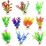 photo: buy Glendan 10 Pack Artificial Aquarium Plants-Small Size 4 to 4.5 inch Fish Tank Decorations Home Décor Plastic Assorted Color online, best price $5.99 new 2019-2018 bestseller, review