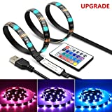 photo: buy LED Strip Light TV Bias Backlight Kit IP65 Waterproof Accent RGB Monitor Lighting Strip with Remote Control -16 Colors USB Powered 60 Leds for HDTV Desktop PC Fish Tank Decorations (2 Meters-6.6 ft) online, best price $9.96 new 2019-2018 bestseller, review