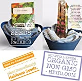 photo: buy Organic Survival Heirloom Seeds Non-GMO Organic Seeds Garden Seeds Survival Seeds 2,650 Seeds Upc 650327337800 Long-Term Storage Cold Hardy online, best price $6.20 new 2018-2017 bestseller, review